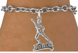 "<bR>                  EXCLUSIVELY OURS!!<Br>            AN ALLAN ROBIN DESIGN!!<BR>   CLICK HERE TO SEE 120+ EXCITING<BR>      CHANGES THAT YOU CAN MAKE!<BR>                 LEAD & NICKEL FREE!!<BR>          W834SB - ""DANCE"" CHARM<Br>      BRACELET FROM $3.65 TO $7.50"
