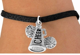 "<bR>                  EXCLUSIVELY OURS!!<Br>            AN ALLAN ROBIN DESIGN!!<BR>   CLICK HERE TO SEE 120+ EXCITING<BR>      CHANGES THAT YOU CAN MAKE!<BR>                 LEAD & NICKEL FREE!!<BR>     W835SB - ""CHEER"" MEGAPHONE<Br>       BRACELET FROM $4.50 TO $8.35"