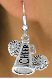 "<bR>                  EXCLUSIVELY OURS!!<Br>            AN ALLAN ROBIN DESIGN!!<BR>   CLICK HERE TO SEE 120+ EXCITING<BR>      CHANGES THAT YOU CAN MAKE!<BR>                 LEAD & NICKEL FREE!!<BR>   W835SE - ""CHEER"" MEGAPHONE<Br>    EARRINGS FROM $4.50 TO $8.35"