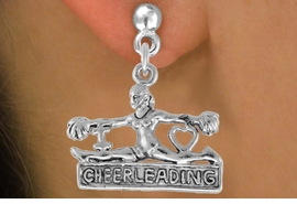"<bR>                  EXCLUSIVELY OURS!!<Br>            AN ALLAN ROBIN DESIGN!!<BR>   CLICK HERE TO SEE 120+ EXCITING<BR>      CHANGES THAT YOU CAN MAKE!<BR>                 LEAD & NICKEL FREE!!<BR> W837SE - ""I LOVE CHEERLEADING"" CHARM<Br>             EARRINGS FROM $4.50 TO $8.35"