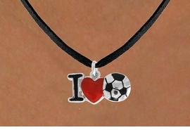 "<bR>               EXCLUSIVELY OURS!!<BR>         AN ALLAN ROBIN DESIGN!!<BR>CLICK HERE TO SEE 120+ EXCITING<BR>   CHANGES THAT YOU CAN MAKE!<BR>              LEAD & NICKEL FREE!!<BR>        W840SN - ""I LOVE SOCCER""<Br>  NECKLACE FROM $4.50 TO $8.35<BR>                              ©2011"