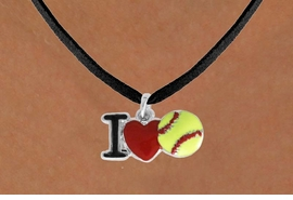 """<bR>               EXCLUSIVELY OURS!!<BR>         AN ALLAN ROBIN DESIGN!!<BR>CLICK HERE TO SEE 120+ EXCITING<BR>   CHANGES THAT YOU CAN MAKE!<BR>              LEAD & NICKEL FREE!!<BR>    W841SN - """"I LOVE SOFT BALL""""<Br>  NECKLACE FROM $4.50 TO $8.35<BR>                              ©2011"""