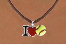 "<bR>               EXCLUSIVELY OURS!!<BR>         AN ALLAN ROBIN DESIGN!!<BR>CLICK HERE TO SEE 120+ EXCITING<BR>   CHANGES THAT YOU CAN MAKE!<BR>              LEAD & NICKEL FREE!!<BR>    W841SN - ""I LOVE SOFT BALL""<Br>  NECKLACE FROM $4.05 TO $7.50<BR>                              ©2011"