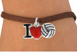 "<bR>               EXCLUSIVELY OURS!!<BR>         AN ALLAN ROBIN DESIGN!!<BR>CLICK HERE TO SEE 120+ EXCITING<BR>   CHANGES THAT YOU CAN MAKE!<BR>              LEAD & NICKEL FREE!!<BR>  W842SB - ""I LOVE VOLLEYBALL""<Br>  BRACELET FROM $4.50 TO $8.35<BR>                              ©2011"