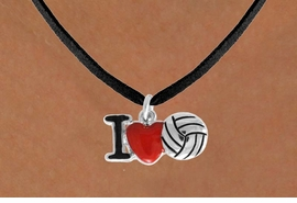 "<bR>               EXCLUSIVELY OURS!!<BR>         AN ALLAN ROBIN DESIGN!!<BR>CLICK HERE TO SEE 120+ EXCITING<BR>   CHANGES THAT YOU CAN MAKE!<BR>              LEAD & NICKEL FREE!!<BR>  W842SN - ""I LOVE VOLLEYBALL""<Br>  NECKLACE FROM $4.05 TO $7.50<BR>                              ©2011"