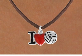 "<bR>               EXCLUSIVELY OURS!!<BR>         AN ALLAN ROBIN DESIGN!!<BR>CLICK HERE TO SEE 120+ EXCITING<BR>   CHANGES THAT YOU CAN MAKE!<BR>              LEAD & NICKEL FREE!!<BR>  W842SN - ""I LOVE VOLLEYBALL""<Br>  NECKLACE FROM $4.50 TO $8.35<BR>                              ©2011"
