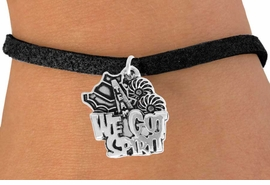 "<bR>               EXCLUSIVELY OURS!!<BR>         AN ALLAN ROBIN DESIGN!!<BR>CLICK HERE TO SEE 120+ EXCITING<BR>   CHANGES THAT YOU CAN MAKE!<BR>              LEAD & NICKEL FREE!!<BR>    W843SB - ""WE'VE GOT SPIRIT""<Br>  BRACELET FROM $4.50 TO $8.35"