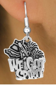 "<bR>               EXCLUSIVELY OURS!!<BR>         AN ALLAN ROBIN DESIGN!!<BR>CLICK HERE TO SEE 120+ EXCITING<BR>   CHANGES THAT YOU CAN MAKE!<BR>              LEAD & NICKEL FREE!!<BR>     W843SE - ""WE'VE GOT SPIRIT""<Br>  EARRINGS FROM $3.25 TO $8.00"