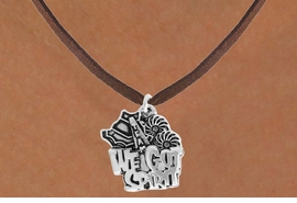 "<bR>               EXCLUSIVELY OURS!!<BR>         AN ALLAN ROBIN DESIGN!!<BR>CLICK HERE TO SEE 120+ EXCITING<BR>   CHANGES THAT YOU CAN MAKE!<BR>              LEAD & NICKEL FREE!!<BR>     W843SN - ""WE'VE GOT SPIRIT""<Br>  NECKLACE FROM $4.05 TO $7.50"