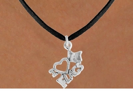 "<bR>               EXCLUSIVELY OURS!!<BR>         AN ALLAN ROBIN DESIGN!!<BR>CLICK HERE TO SEE 120+ EXCITING<BR>   CHANGES THAT YOU CAN MAKE!<BR>              LEAD & NICKEL FREE!!<BR>        W903SN - ""I LOVE FLAGS""<Br>  NECKLACE FROM $4.50 TO $8.35"