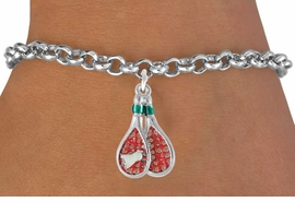 <bR>                EXCLUSIVELY OURS!!<Br>          AN ALLAN ROBIN DESIGN!!<BR>CLICK HERE TO SEE 120+ EXCITING<BR>   CHANGES THAT YOU CAN MAKE!<BR> W720SB - COLORED BADMINTON<Br>   RACKETS & BIRDIE CHARM ON A<bR>  BRACELET FROM  $4.50 TO $8.35