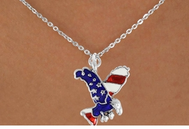 <bR>                EXCLUSIVELY OURS!!<Br>          AN ALLAN ROBIN DESIGN!!<BR>CLICK HERE TO SEE 120+ EXCITING<BR>   CHANGES THAT YOU CAN MAKE!<BR> W726SN - AMERICAN FLAG EAGLE<Br>  NECKLACE FROM  $4.05 TO $7.50