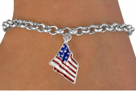 <bR>               EXCLUSIVELY OURS!!<Br>          AN ALLAN ROBIN DESIGN!!<BR>CLICK HERE TO SEE 120+ EXCITING<BR>   CHANGES THAT YOU CAN MAKE!<BR>W727SB - AMERICAN FLAG CHARM<Br>   BRACELET FROM  $3.65 TO $7.50