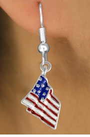 <bR>                 EXCLUSIVELY OURS!!<Br>           AN ALLAN ROBIN DESIGN!!<BR> CLICK HERE TO SEE 120+ EXCITING<BR>    CHANGES THAT YOU CAN MAKE!<BR> W727SE - AMERICAN FLAG CHARM<Br>  EARRINGS FROM  $3.25 TO $8.00