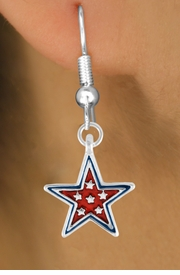 "<bR>               EXCLUSIVELY OURS!!<Br>         AN ALLAN ROBIN DESIGN!!<BR>CLICK HERE TO SEE 120+ EXCITING<BR>   CHANGES THAT YOU CAN MAKE!<BR>  W729SE - RED ""PATRIOTIC STAR""<Br>         CHARM & EARRINGS FROM<Br>                      $3.25 TO $8.00"