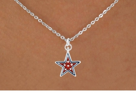 "<bR>               EXCLUSIVELY OURS!!<Br>         AN ALLAN ROBIN DESIGN!!<BR>CLICK HERE TO SEE 120+ EXCITING<BR>   CHANGES THAT YOU CAN MAKE!<BR> W729SN - RED ""PATRIOTIC STAR""<Br>        CHARM & NECKLACE FROM<Br>                     $4.05 TO $7.50"