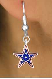 "<bR>               EXCLUSIVELY OURS!!<Br>         AN ALLAN ROBIN DESIGN!!<BR>CLICK HERE TO SEE 120+ EXCITING<BR>   CHANGES THAT YOU CAN MAKE!<BR>W730SE - BLUE ""PATRIOTIC STAR""<Br>        CHARM & EARRINGS FROM<Br>                    $3.25 TO $8.00"
