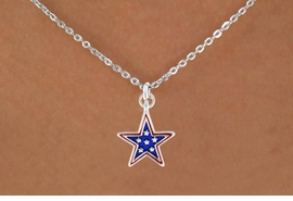 "<bR>               EXCLUSIVELY OURS!!<Br>         AN ALLAN ROBIN DESIGN!!<BR>CLICK HERE TO SEE 120+ EXCITING<BR>   CHANGES THAT YOU CAN MAKE!<BR> W730SN - BLUE ""PATRIOTIC STAR""<Br>        CHARM & NECKLACE FROM<Br>                      $4.05 TO $7.50"
