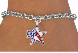 "<bR>               EXCLUSIVELY OURS!!<Br>         AN ALLAN ROBIN DESIGN!!<BR>CLICK HERE TO SEE 120+ EXCITING<BR>   CHANGES THAT YOU CAN MAKE!<BR>   W731SB - ""PATRIOTIC 2-STAR""<Br>        CHARM & BRACELET FROM<Br>                     $3.65 TO $7.50"