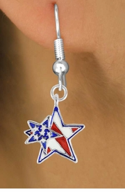 "<bR>               EXCLUSIVELY OURS!!<Br>         AN ALLAN ROBIN DESIGN!!<BR>CLICK HERE TO SEE 120+ EXCITING<BR>   CHANGES THAT YOU CAN MAKE!<BR>    W731SE - ""PATRIOTIC 2-STAR""<Br>         CHARM & EARRINGS FROM<Br>                      $4.50 TO $8.35"