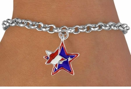 "<bR>               EXCLUSIVELY OURS!!<Br>         AN ALLAN ROBIN DESIGN!!<BR>CLICK HERE TO SEE 120+ EXCITING<BR>   CHANGES THAT YOU CAN MAKE!<BR>   W736SB - ""PATRIOTIC 2-STAR""<Br>        CHARM & BRACELET FROM<Br>                     $3.65 TO $7.50"