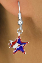 "<bR>               EXCLUSIVELY OURS!!<Br>         AN ALLAN ROBIN DESIGN!!<BR>CLICK HERE TO SEE 120+ EXCITING<BR>   CHANGES THAT YOU CAN MAKE!<BR>    W736SE - ""PATRIOTIC 2-STAR""<Br>         CHARM & EARRINGS FROM<Br>                      $3.25 TO $8.00"