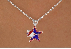 "<bR>               EXCLUSIVELY OURS!!<Br>         AN ALLAN ROBIN DESIGN!!<BR>CLICK HERE TO SEE 120+ EXCITING<BR>   CHANGES THAT YOU CAN MAKE!<BR>   W736SN -  ""PATRIOTIC 2-STAR""<Br>        CHARM & NECKLACE FROM<Br>                     $4.05 TO $7.50"