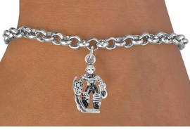 <bR>                 EXCLUSIVELY OURS!!<Br>           AN ALLAN ROBIN DESIGN!!<BR>  CLICK HERE TO SEE 500+ EXCITING<BR>     CHANGES THAT YOU CAN MAKE!<BR>                LEAD & NICKEL FREE!!<BR>             W757SB � HOCKEY GUARD<Br>     BRACELET FROM $3.65 TO $7.50