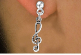 <bR>                    EXCLUSIVELY OURS!!<Br>              AN ALLAN ROBIN DESIGN!!<BR>  CLICK HERE TO SEE 500+ EXCITING<BR>     CHANGES THAT YOU CAN MAKE!<BR>                LEAD & NICKEL FREE!!<BR>W789SE - CLEF NOTE CHARM EARRINGS <BR>                 FROM $4.50 TO $8.35