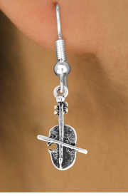 <bR>                    EXCLUSIVELY OURS!!<Br>              AN ALLAN ROBIN DESIGN!!<BR>  CLICK HERE TO SEE 500+ EXCITING<BR>     CHANGES THAT YOU CAN MAKE!<BR>                LEAD & NICKEL FREE!!<BR>W790SE - VIOLIN CHARM EARRINGS <BR>                 FROM $4.50 TO $8.35