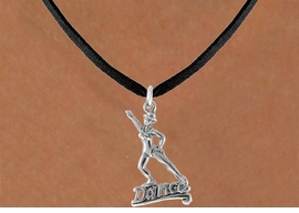 "<bR>               EXCLUSIVELY OURS!!<Br>         AN ALLAN ROBIN DESIGN!!<BR>CLICK HERE TO SEE 500+ EXCITING<BR>   CHANGES THAT YOU CAN MAKE!<BR>              LEAD & NICKEL FREE!!<BR>       W834SN - ""DANCE"" CHARM<Br>   NECKLACE FROM $4.05 TO $7.50"