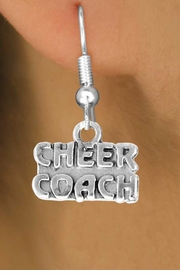 "<bR>                  EXCLUSIVELY OURS!!<Br>            AN ALLAN ROBIN DESIGN!!<BR>   CLICK HERE TO SEE 500+ EXCITING<BR>      CHANGES THAT YOU CAN MAKE!<BR>                 LEAD & NICKEL FREE!!<BR>        W838SE - ""CHEER COACH"" CHARM<Br>    EARRINGS FROM $3.25 TO $8.00"