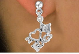 "<bR>               EXCLUSIVELY OURS!!<BR>         AN ALLAN ROBIN DESIGN!!<BR>CLICK HERE TO SEE 500+ EXCITING<BR>   CHANGES THAT YOU CAN MAKE!<BR>              LEAD & NICKEL FREE!!<BR>        W903SE - ""I LOVE FLAGS""<Br>  EARRINGS FROM $4.50 TO $8.35"