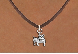 <bR>               EXCLUSIVELY OURS!!<BR>         AN ALLAN ROBIN DESIGN!!<BR>CLICK HERE TO SEE 600+ EXCITING<BR>   CHANGES THAT YOU CAN MAKE!<BR>      CADMIUM,  LEAD & NICKEL FREE!! <BR>W298SN -  POLISHED SILVER TONE <Br>BULLDOG CHARM  & NECKLACE <BR>      FROM $4.55 TO $8.00 �2012