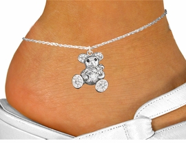 <bR>                 EXCLUSIVELY OURS!!<BR>           AN ALLAN ROBIN DESIGN!!<BR>  CLICK HERE TO SEE 600+ EXCITING<BR>     CHANGES THAT YOU CAN MAKE!<BR>    LEAD, NICKEL & CADMIUM FREE!!<BR>W1189SAK - CRYSTAL TEDDY BEAR CHARM<Br>& ANKLET FROM $5.40 TO $9.85 �2012