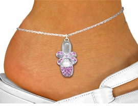<bR>                 EXCLUSIVELY OURS!!<BR>           AN ALLAN ROBIN DESIGN!!<BR>  CLICK HERE TO SEE 600+ EXCITING<BR>     CHANGES THAT YOU CAN MAKE!<BR>LEAD, NICKEL & CADMIUM FREE!!<BR>    W1270SAK -  BALLERINA SHOE <BR>PINK CRYSTAL CHARM AND ANKLET <Br>      FROM $4.35 TO $9.00 �2012