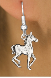 "<bR>               EXCLUSIVELY OURS!!<BR>         AN ALLAN ROBIN DESIGN!!<BR>CLICK HERE TO SEE 600+ EXCITING<BR>   CHANGES THAT YOU CAN MAKE!<BR>              LEAD & NICKEL FREE!!<BR>     W1002SE - ""TROTTING HORSE""<Br>  EARRINGS FROM $3.25 TO $8.00"