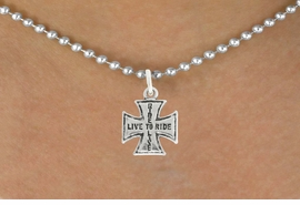 "<bR>               EXCLUSIVELY OURS!!<BR>         AN ALLAN ROBIN DESIGN!!<BR>CLICK HERE TO SEE 600+ EXCITING<BR>   CHANGES THAT YOU CAN MAKE!<BR>              LEAD & NICKEL FREE!!<BR>W1006SN - ""LIVE TO RIDE, RIDE TO LIVE""<Br>  NECKLACE FROM $4.55 TO $8.00"