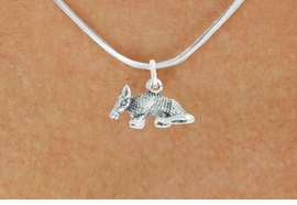 "<bR>               EXCLUSIVELY OURS!!<BR>         AN ALLAN ROBIN DESIGN!!<BR>CLICK HERE TO SEE 600+ EXCITING<BR>   CHANGES THAT YOU CAN MAKE!<BR>              LEAD & NICKEL FREE!!<BR>          W1012SN - ""ARMADILLO""<Br>  NECKLACE FROM $4.55 TO $8.00"