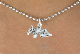"<bR>               EXCLUSIVELY OURS!!<BR>         AN ALLAN ROBIN DESIGN!!<BR>CLICK HERE TO SEE 600+ EXCITING<BR>   CHANGES THAT YOU CAN MAKE!<BR>              LEAD & NICKEL FREE!!<BR>          W1012SN - ""ARMADILLO""<Br>  NECKLACE FROM $4.50 TO $8.35"