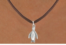 "<bR>               EXCLUSIVELY OURS!!<BR>         AN ALLAN ROBIN DESIGN!!<BR>CLICK HERE TO SEE 600+ EXCITING<BR>   CHANGES THAT YOU CAN MAKE!<BR>              LEAD & NICKEL FREE!!<BR>             W1013SN - ""PENGUIN""<Br>  NECKLACE FROM $4.55 TO $8.00"