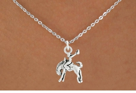 "<bR>               EXCLUSIVELY OURS!!<BR>         AN ALLAN ROBIN DESIGN!!<BR>CLICK HERE TO SEE 600+ EXCITING<BR>   CHANGES THAT YOU CAN MAKE!<BR>              LEAD & NICKEL FREE!!<BR>     W1014SN - ""BRONCO BUSTER""<Br>  NECKLACE FROM $4.55 TO $8.00"
