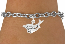 "<bR>               EXCLUSIVELY OURS!!<BR>         AN ALLAN ROBIN DESIGN!!<BR>CLICK HERE TO SEE 600+ EXCITING<BR>   CHANGES THAT YOU CAN MAKE!<BR>              LEAD & NICKEL FREE!!<BR>    W1015SB - ""DOLPHIN AND CALF"" <Br>   & BRACELET FROM $4.15 TO $8.00"