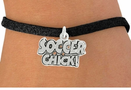 "<bR>               EXCLUSIVELY OURS!!<BR>         AN ALLAN ROBIN DESIGN!!<BR>CLICK HERE TO SEE 600+ EXCITING<BR>   CHANGES THAT YOU CAN MAKE!<BR>              LEAD & NICKEL FREE!!<BR>      W1022SB - ""SOCCER CHICK"" <Br>   & BRACELET FROM $4.15 TO $8.00"