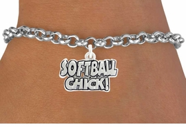 "<bR>               EXCLUSIVELY OURS!!<BR>         AN ALLAN ROBIN DESIGN!!<BR>CLICK HERE TO SEE 600+ EXCITING<BR>   CHANGES THAT YOU CAN MAKE!<BR>              LEAD & NICKEL FREE!!<BR>W1023SB - ""SOFTBALL CHICK""2010� <Br>   & BRACELET FROM $4.15 TO $8.00"