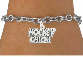 "<bR>               EXCLUSIVELY OURS!!<BR>         AN ALLAN ROBIN DESIGN!!<BR>CLICK HERE TO SEE 600+ EXCITING<BR>   CHANGES THAT YOU CAN MAKE!<BR>              LEAD & NICKEL FREE!!<BR>        W1026SB - ""HOCKEY CHICK"" <Br>   & BRACELET FROM $4.15 TO $8.00"