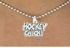 "<bR>               EXCLUSIVELY OURS!!<BR>         AN ALLAN ROBIN DESIGN!!<BR>CLICK HERE TO SEE 600+ EXCITING<BR>   CHANGES THAT YOU CAN MAKE!<BR>              LEAD & NICKEL FREE!!<BR>      W1026SN - ""HOCKEY CHICK""<Br>  NECKLACE FROM $4.55 TO $8.00"