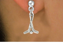 "<bR>               EXCLUSIVELY OURS!!<BR>         AN ALLAN ROBIN DESIGN!!<BR>CLICK HERE TO SEE 600+ EXCITING<BR>   CHANGES THAT YOU CAN MAKE!<BR>              LEAD & NICKEL FREE!!<BR>W1030SE - ""HOCKEY STICKS & PUCK""<Br>  EARRINGS FROM $3.25 TO $8.00"