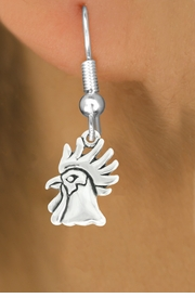 "<bR>               EXCLUSIVELY OURS!!<BR>         AN ALLAN ROBIN DESIGN!!<BR>CLICK HERE TO SEE 600+ EXCITING<BR>   CHANGES THAT YOU CAN MAKE!<BR>              LEAD & NICKEL FREE!!<BR>              W1037SE - ""ROOSTER""<Br>  EARRINGS FROM $3.25 TO $8.00"