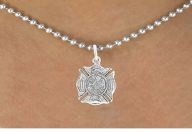 <bR>                      EXCLUSIVELY OURS!!<BR>                AN ALLAN ROBIN DESIGN!!<BR>       CLICK HERE TO SEE 600+ EXCITING<BR>          CHANGES THAT YOU CAN MAKE!<BR>                     LEAD & NICKEL FREE!!<BR>       W1046SN - ST. FLORIAN MALTESE<BR>              CROSS FIREFIGHTER SHIELD<Br>    NECKLACE FROM $4.55 TO $8.00 �2011